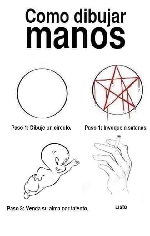 Como dibujar manos realistas