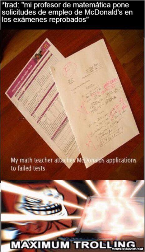 Mi profesor de matematicas es un desgraciado y te lo muestro