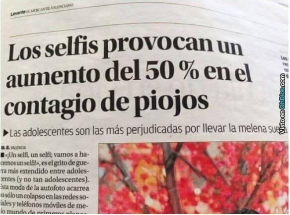 Por favor deja de hacer selfie es por tu bien