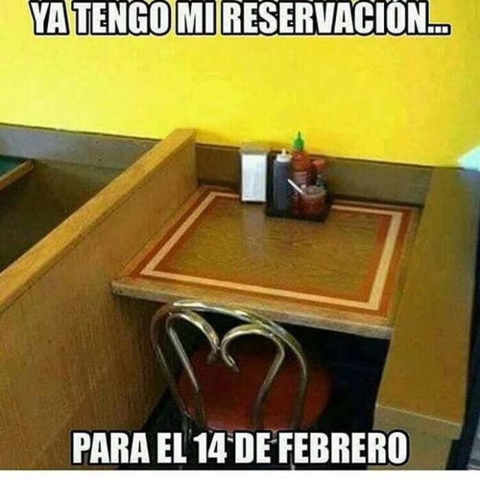 Yo hice esta reservacion para el 14 de febrero