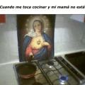 Cuando tienes que cocinas y no esta tu madre