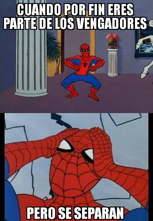 La vida de Spiderman es muy dificil