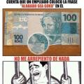 Mientras tanto los billetes de Brasil