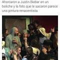 Ahorcaron a Justin Bieber y parece una obra de arte