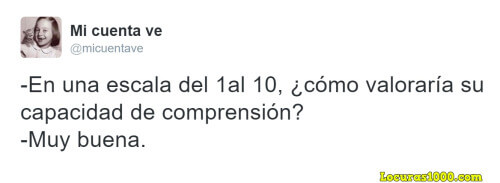 Como es tu comprension lectora