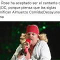Porque AXL Rose sera cantante de