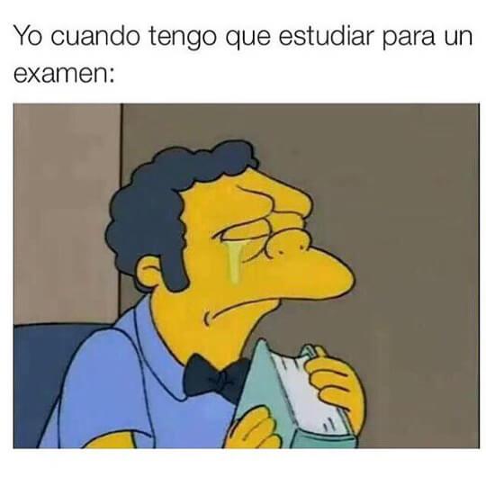 Cuando hay que estudiar para un examen