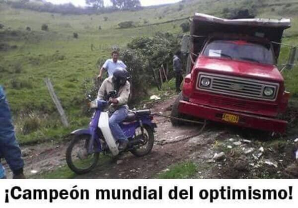 El campeon mundial del optimismo