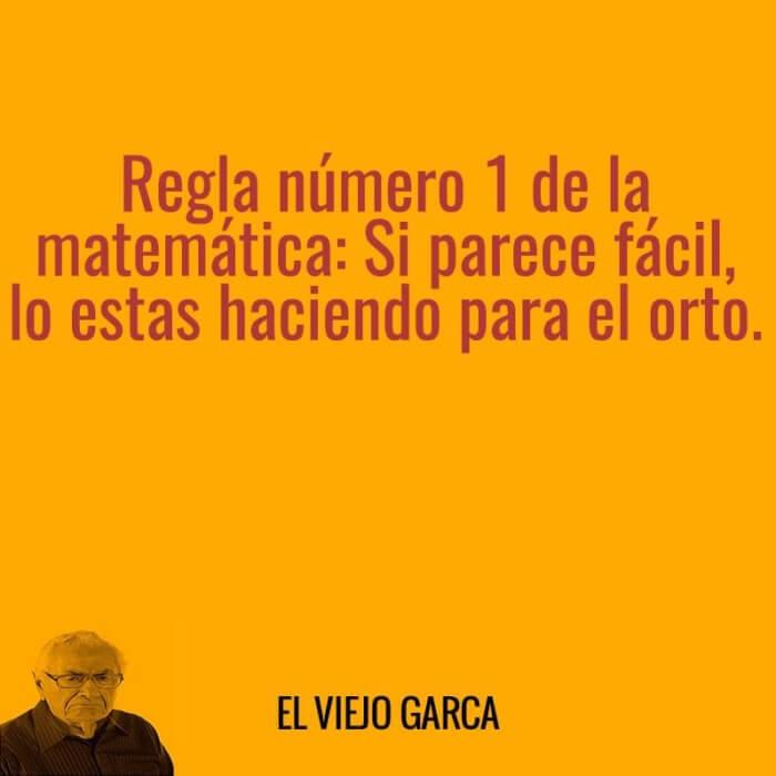 Regla numero uno de las matematicas