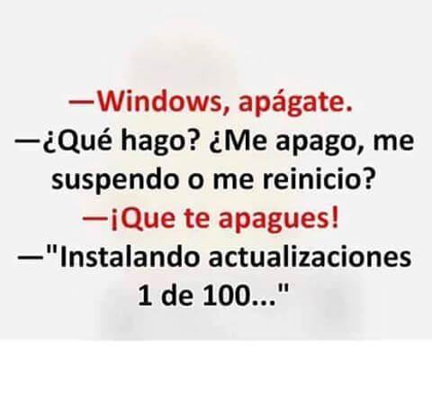 Si hablaras con Windows