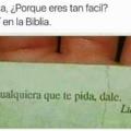 Si la biblia lo dice