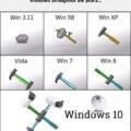 Windows a traves de los años