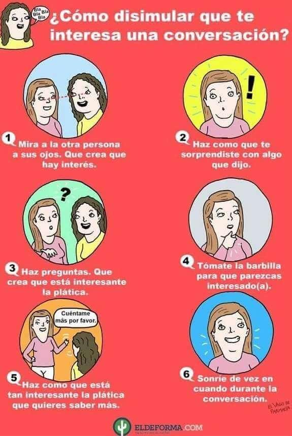 Como disimular interes en una conversacion