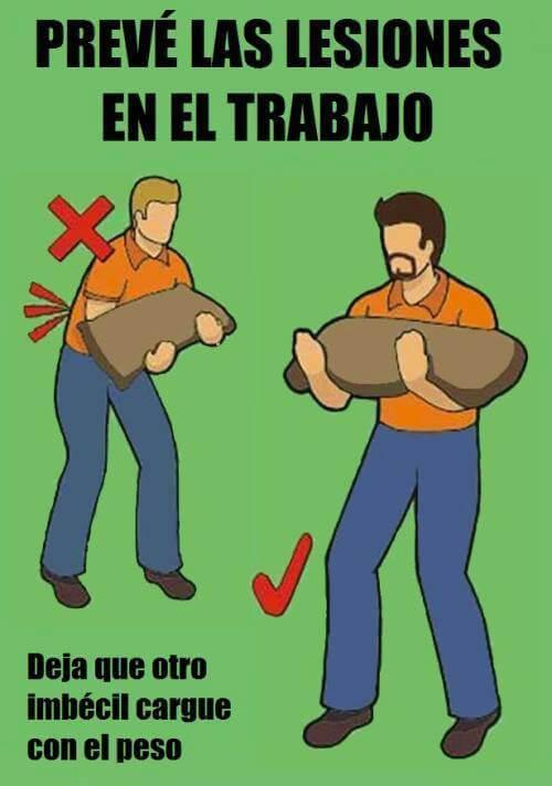 Como evitar lesiones en el trabajo