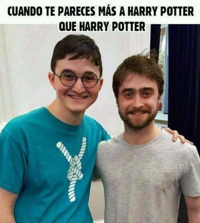 Cuando te pareces a Harry Potter