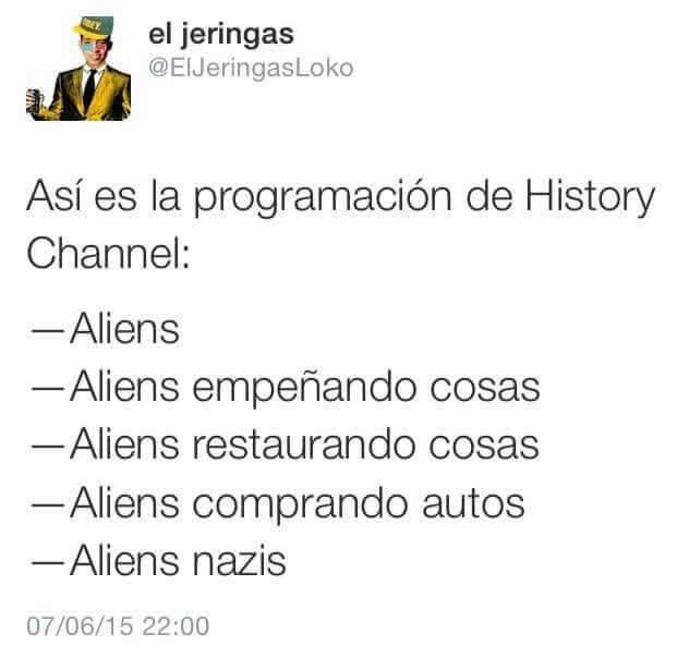 La nueva y renovada programacion de History