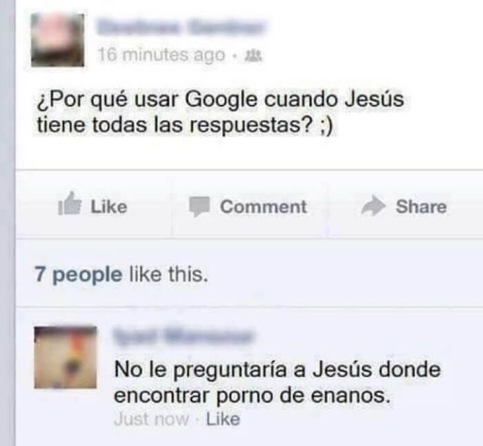 Porque usar Google cuando Jesus tiene todas las respuesta