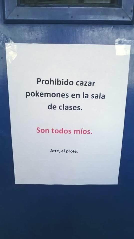 Prohibido cazar Pokemones