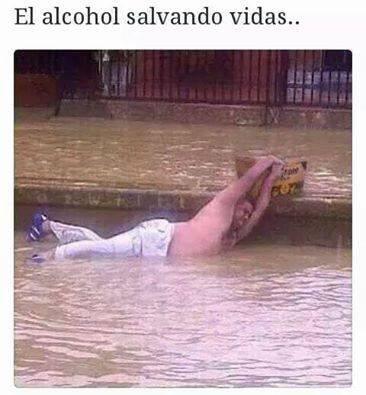El alcohol salvando vidas