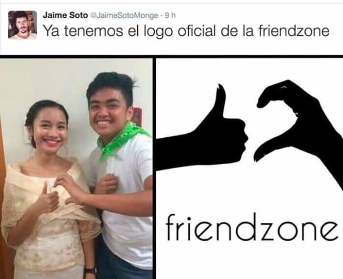 El logo oficial de la friendzone