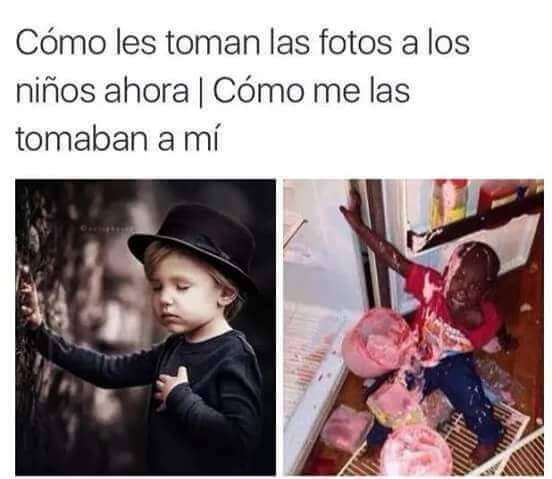 Fotos de niño de ahora vs las de antes