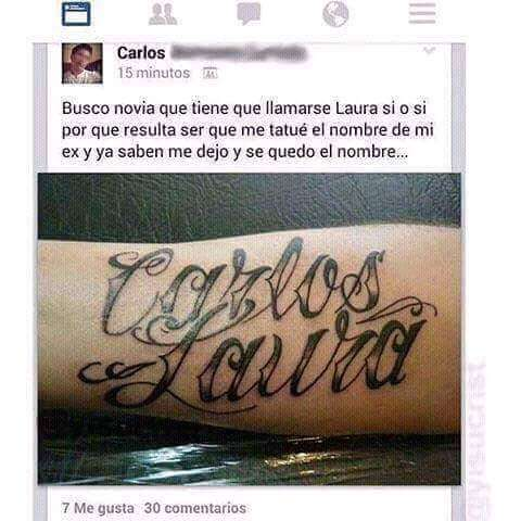 Se busca novia de nombre Laura