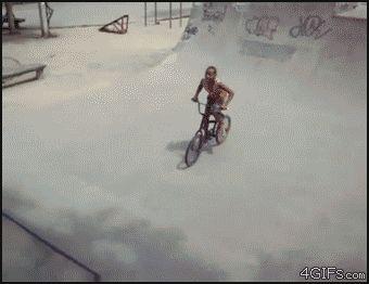 Cuando estas aprendiendo a andar en Bicicleta