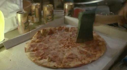 La forma correcta de cortar Pizza