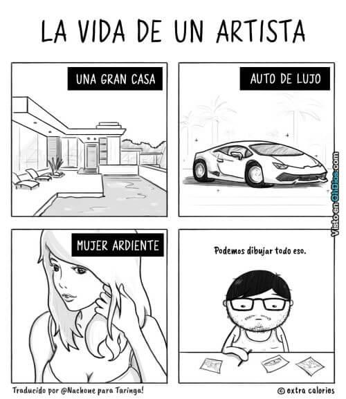La vida de un artista