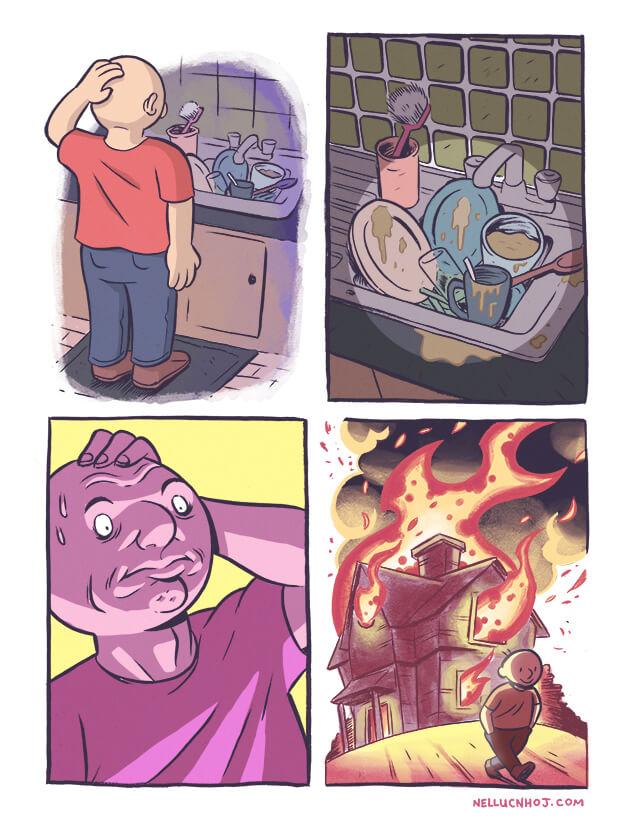 Y por eso los hombres no son buenos cuidando el hogar