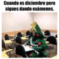 Cuando es diciembre pero sigues con examenes