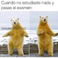Cuando no estudias y pasa el examen