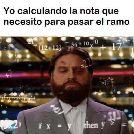 Cuando tienes que calcular la nota minima para pasar