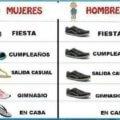 Mujeres vs hombres en calzado