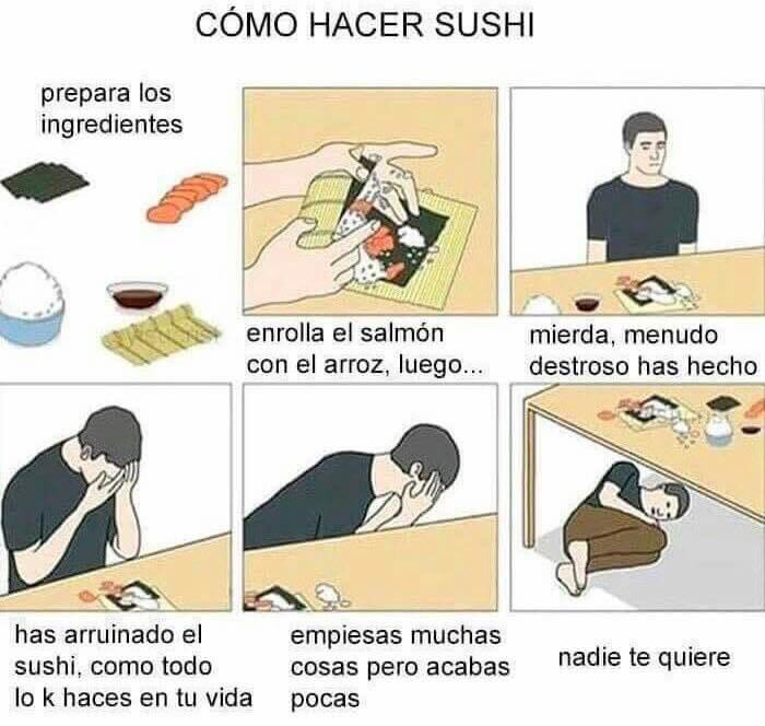 Paso a paso de como hacer sushi
