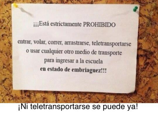 Uno ya no puede ni teletransportarse