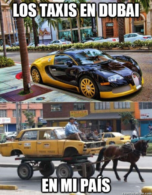 taxis en dubai vs los de tu pais