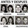Antes y despues de sustancias adictivas