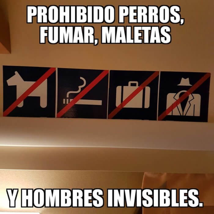 Cosas prohibidas