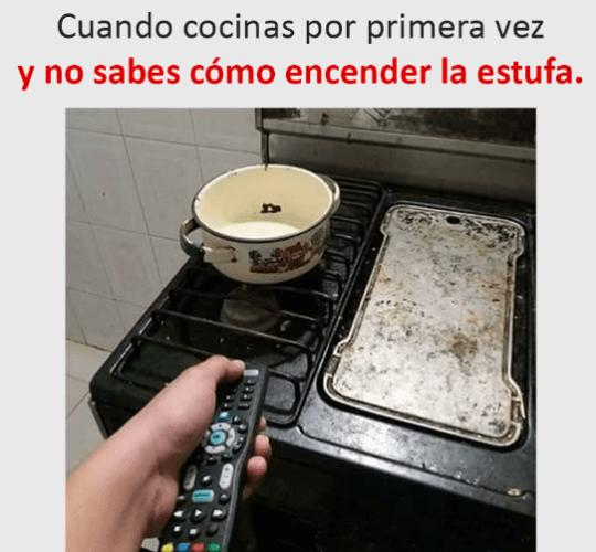 Cuando no sabes encender la cocina