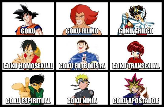 Diferentes tipos de goku
