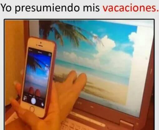 Presumiendo las vacaciones