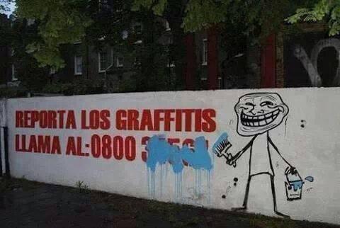 Reporta los graffitis