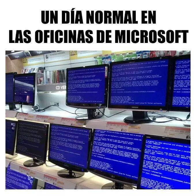 Un dia normal en las oficinas de microsoft