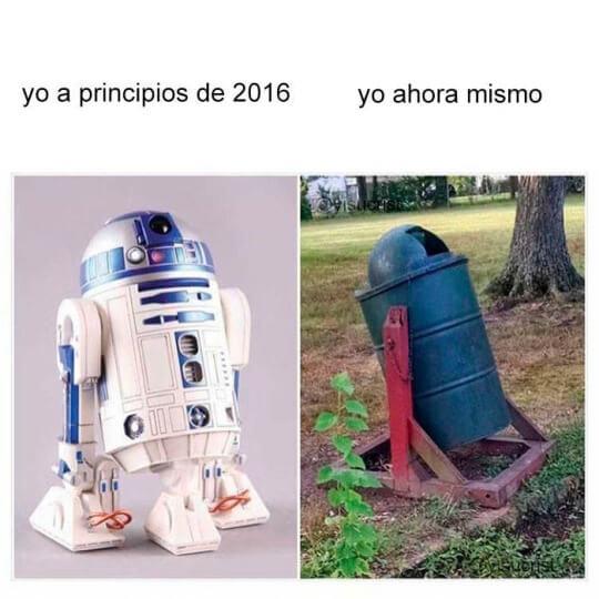 A principios del año anterior vs el principio de este año