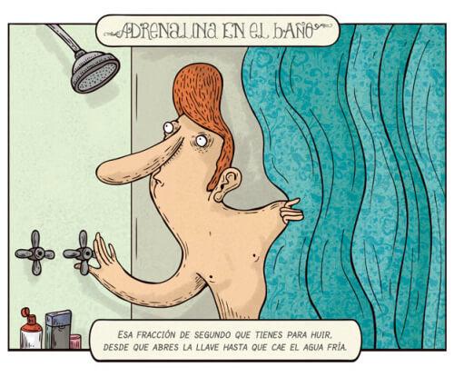 Adrenalina en el baño