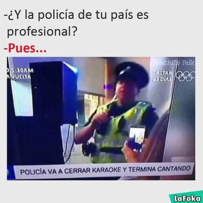Como es la policia de tu pais