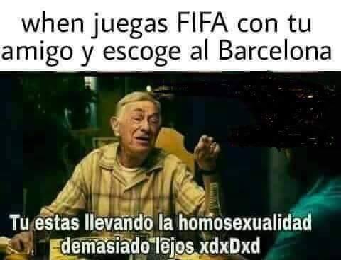 Cuando juegas con el Barcelona o Real Madrid