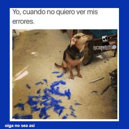Cuando no quieres ver tus errores