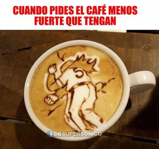 Cuando pides el cafe menos fuerte